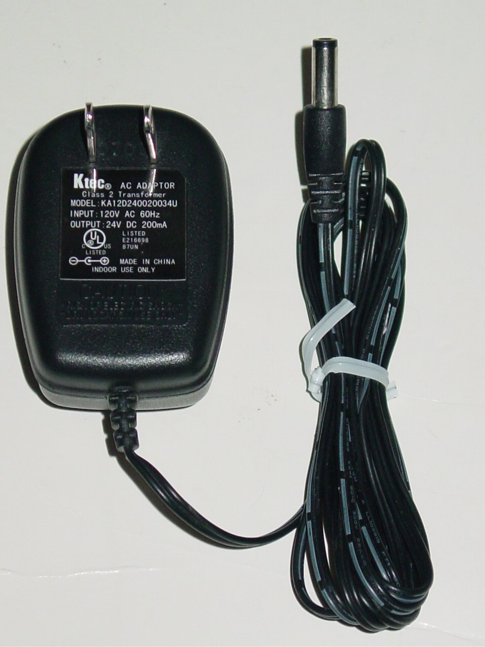 Ktec KA12D240020034U AC Adapter 24V 200mA