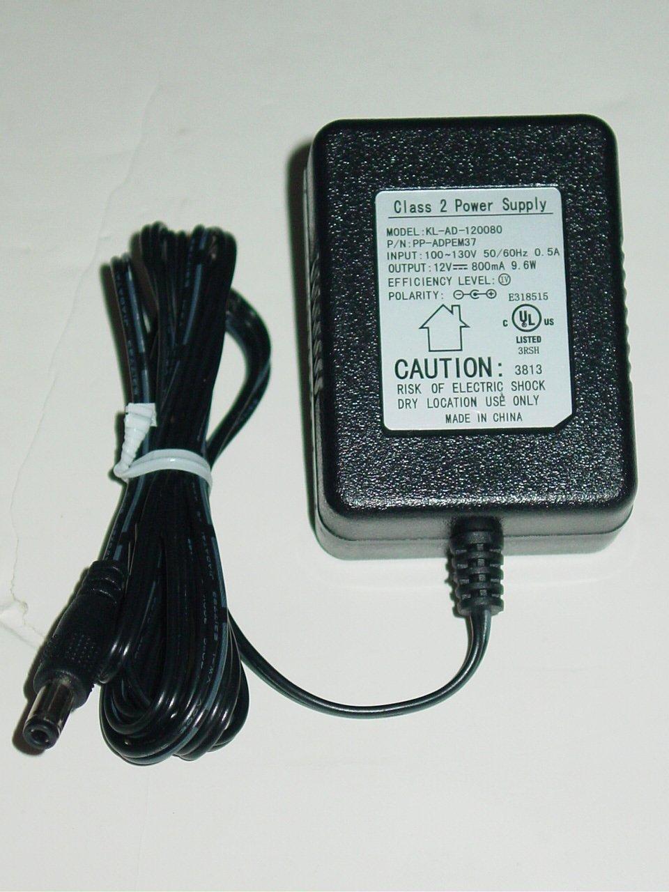 KL-AD-120080 AC Adapter PP-ADPEM37 12V 800mA KLAD120080