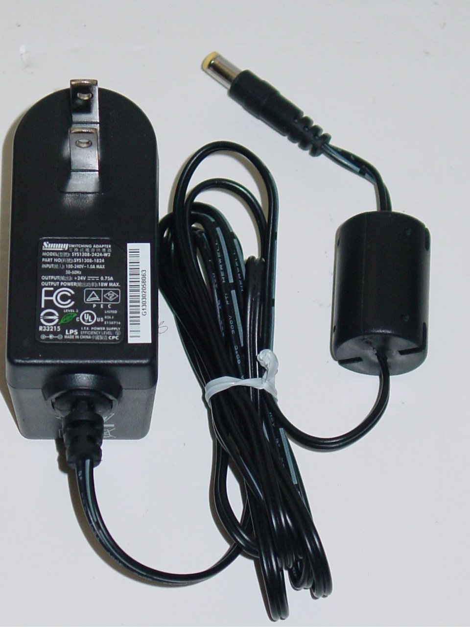 Sunny SYS1308-2424-W2 AC Adapter 24V 0.75A