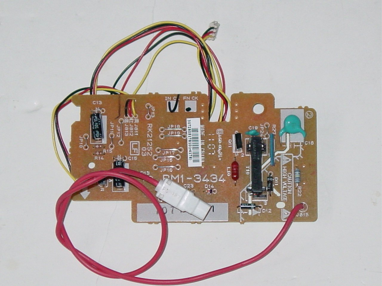 HP RM1-3434 LaserJet Color  Printer Sub-High Voltage Power Supply Control Board