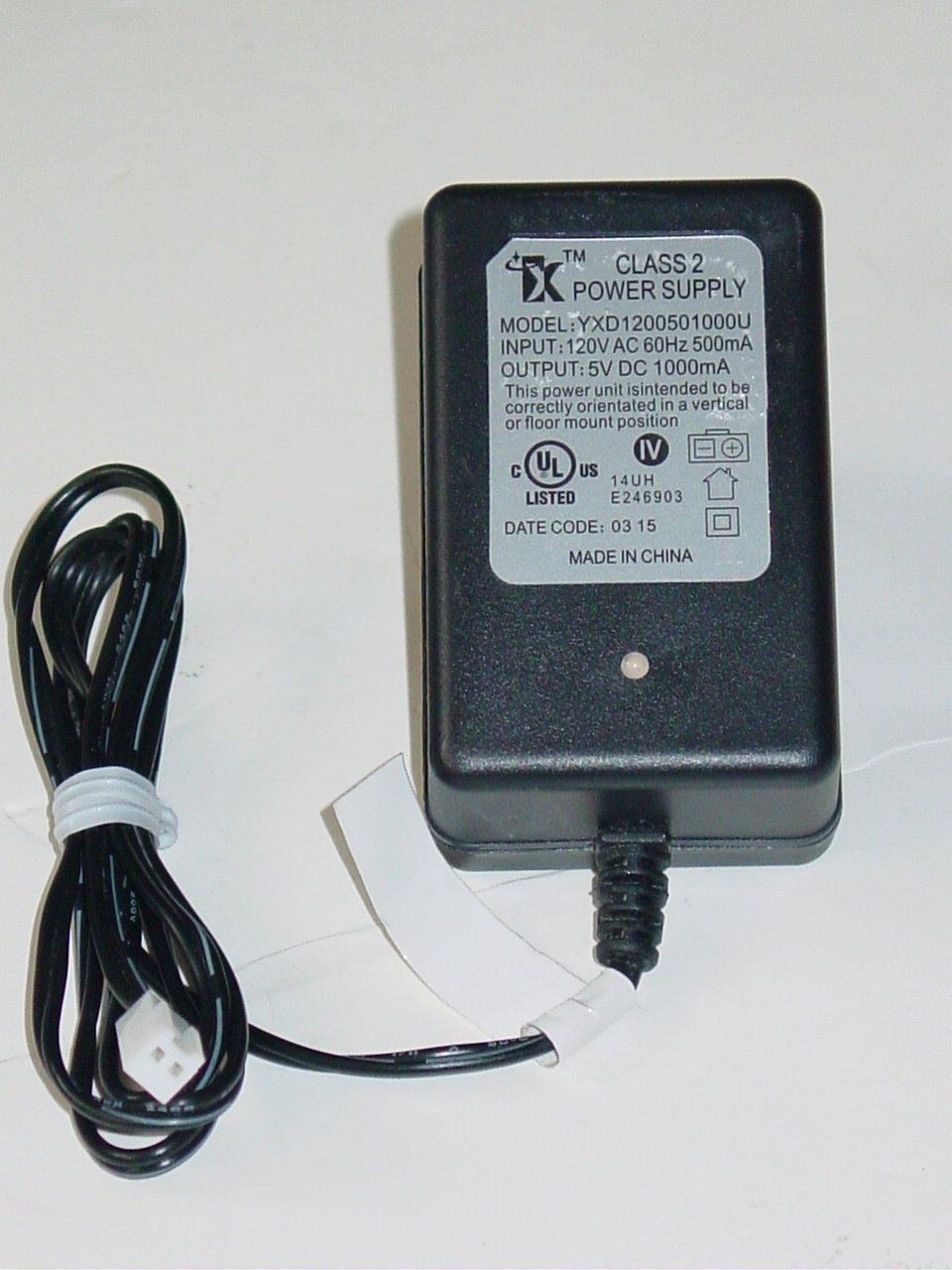 YX YXD1200501000U Charger AC Adapter 5V 1000mA for Auldey Sky Rover RC Helicopter