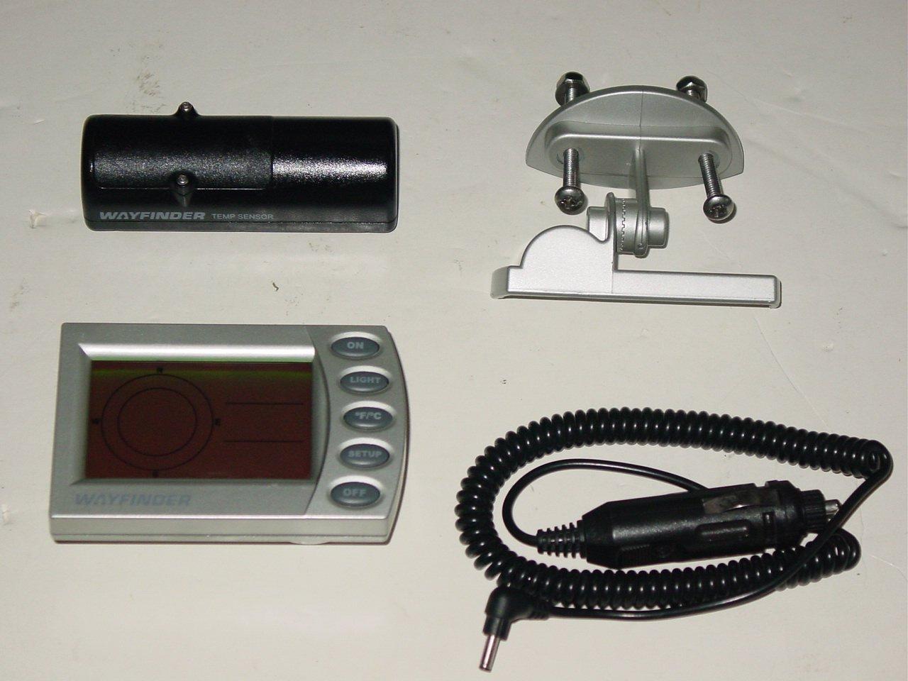 Wayfinder V2020 Wireless Digital Vehicle Compass & Thermometer w/ Temp Sensor