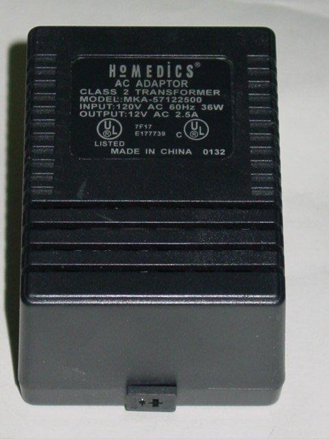 Homedics MKA-57122500 (without cord) AC Adapter 12VAC 2.5A