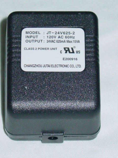 Changzhou Jutai JT-24V625-2 (without cord) AC Adapter 24VAC 625mA