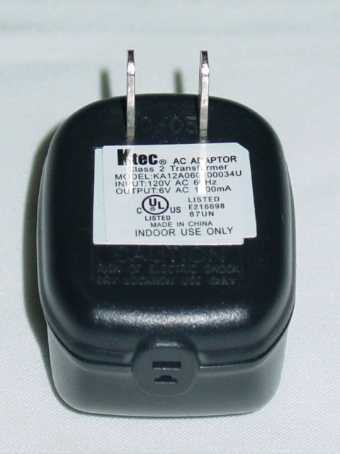 Ktec KA12A060100034U (without cord) AC Adapter 6VAC 1000mA