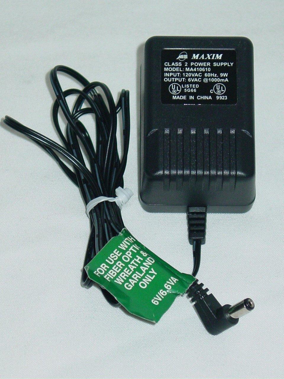 Maxim MA410610 AC Adapter 6VAC 1000mA
