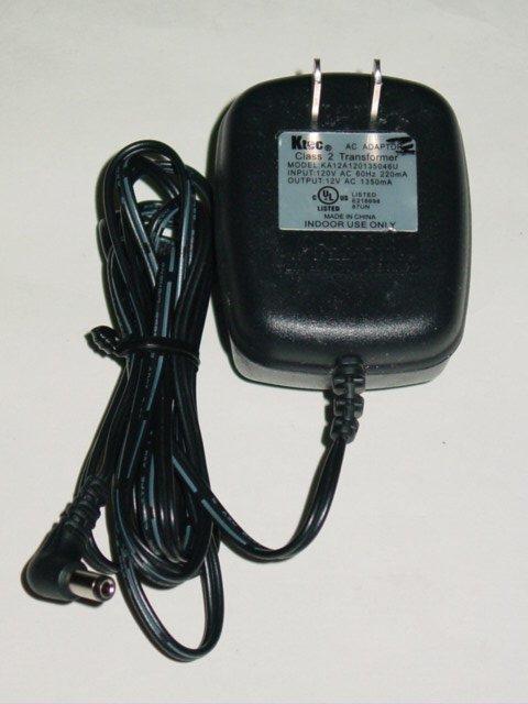 Ktec KA12A120135046U AC Adapter 12VAC 1350mA
