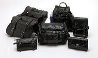 Buffalo Leather 7pc Motorcycle saddlebags and bag set