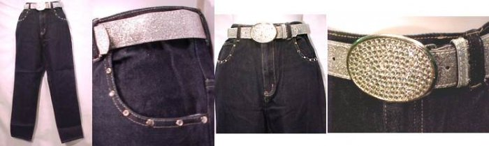 """""""Spoiled Girl"""" Junior Jeans with Belt"""