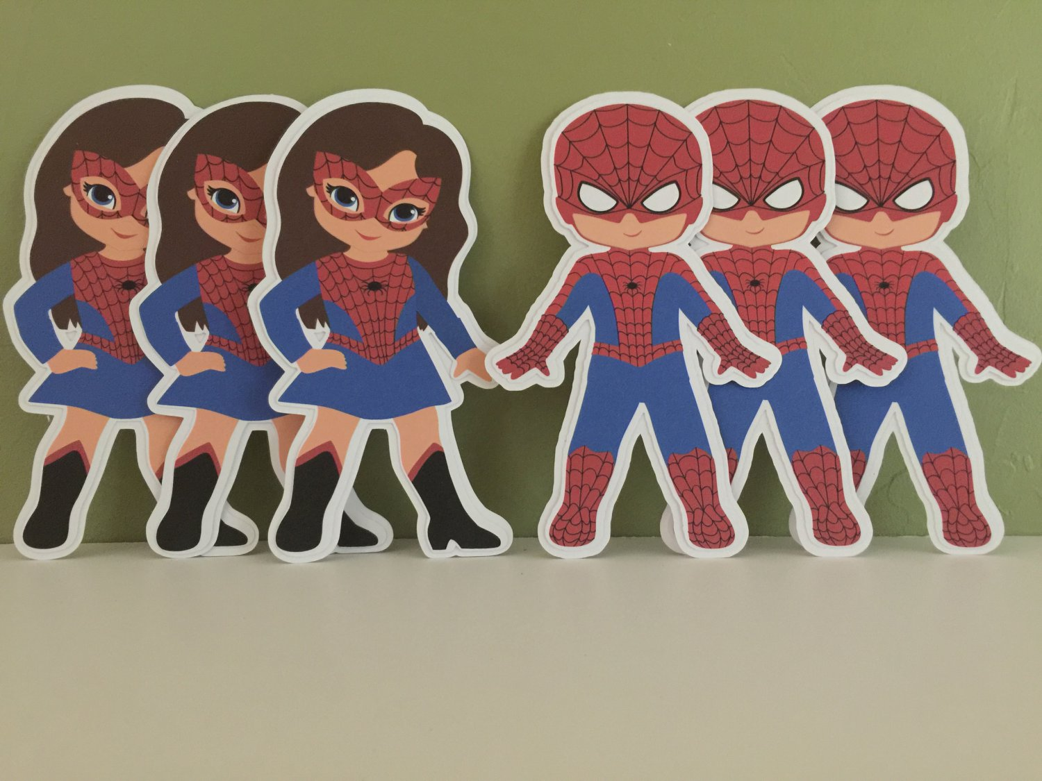 "Spiderman Die Cuts Set Of 6 (5.5"") Party Favors"