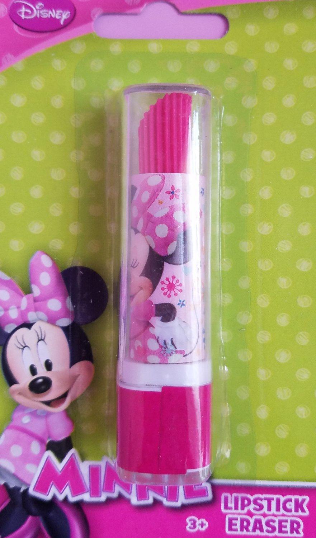 Disney Minnie Mouse Lipstick Eraser Party Favors Set of 6