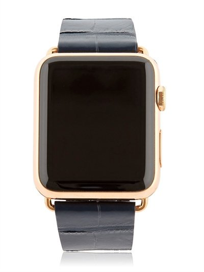 HADORO 42MM ROSE GOLD APPLE WATCH W/ 3 BAND SET
