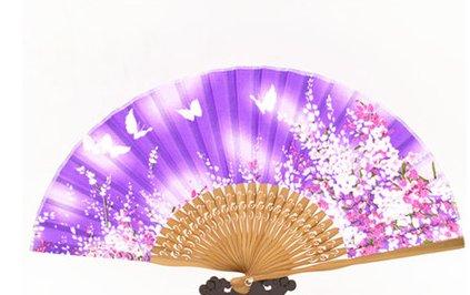Chinese wind fan, Pure silk satin women's silk fan X 60 fans