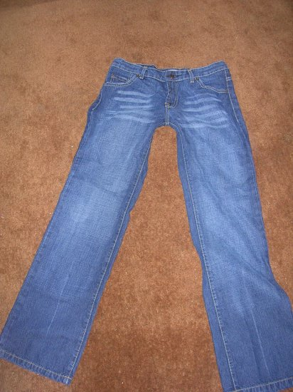 STEVE AND BARRY'S SIZE 6 JEANS LOW RISE BOOT CUT