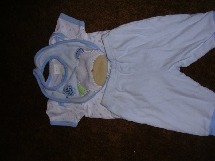 3 PC BOYS 0-3 MOS OUTFIT