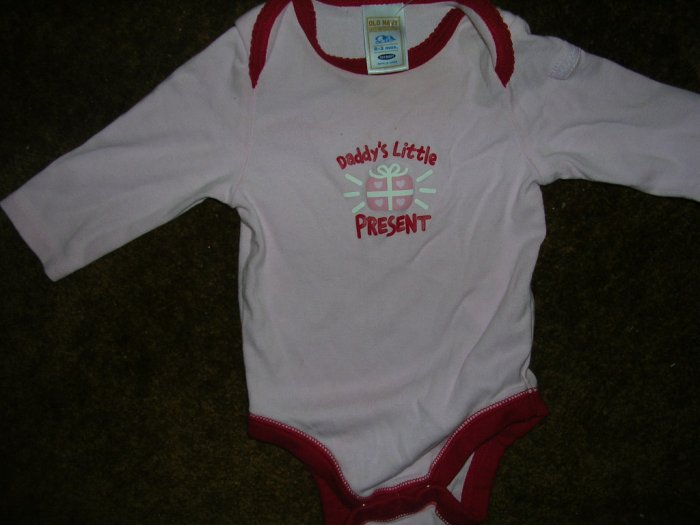 0-3 MOS GIRLS L/S ONSIE OLD NAVY