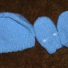 BOYS CROCHETED HAT AND MITTENS