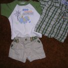 BOYS 0-3 MOS 3 PC OUTFIT.