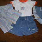 CHILDRENS PLACE 0-3 MOS 4 PC OUTFIT