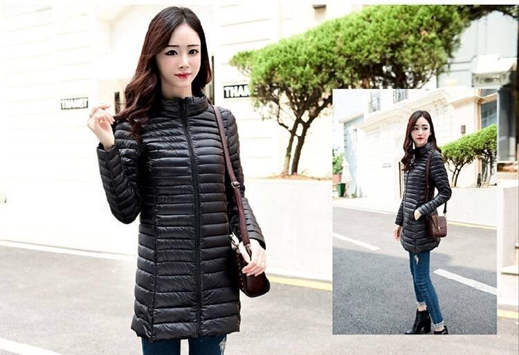 Long Winter Parka Womens Down Jackets Brand Designer Ultra Light White Duck Down Coats Plus Size