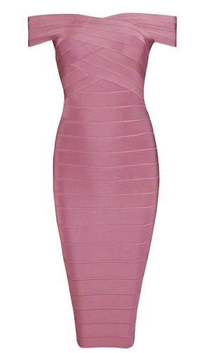 Ivy Deep Blush Bandage Dress