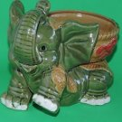 Jumbo Size Elephant Ceramic Vase 7'' inches tall for lucky bamboo