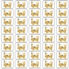 "50 Baby Jesus In Manger Envelope Seals / Labels / Stickers, 1"" by 1.5"""