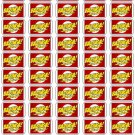 "50 Bazinga Envelope Seals / Labels / Stickers, 1"" by 1.5"""
