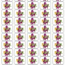 "50 Barney and Friends Envelope Seals / Labels / Stickers, 1"" by 1.5"""