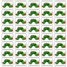 "50 Hungry Caterpillar Envelope Seals / Labels / Stickers, 1"" by 1.5"""