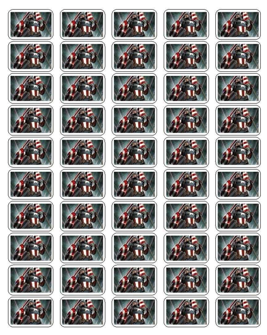 "50 Captain America Civil War Envelope Seals / Labels / Stickers, 1"" by 1.5"""