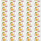"50 Caillou Envelope Seals / Labels / Stickers, 1"" by 1.5"""