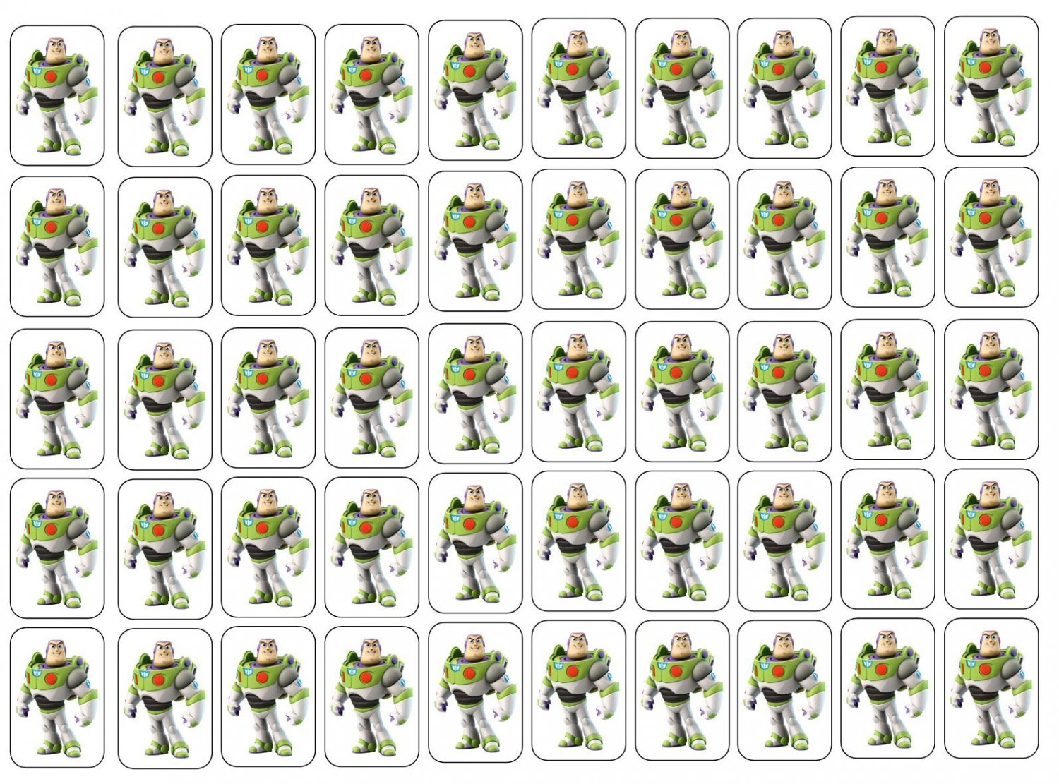 "50 Buzz Lightyear Envelope Seals / Labels / Stickers, 1"" by 1.5"""