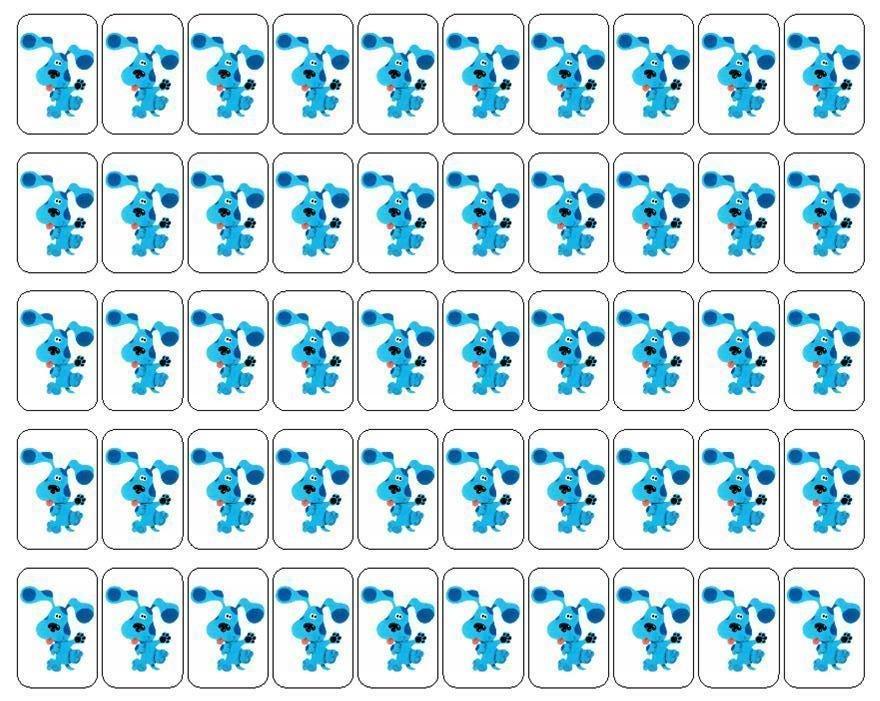 "50 Blue's Clues Envelope Seals / Labels / Stickers, 1"" by 1.5"""
