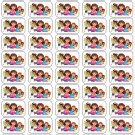 "50 Dora and Friends Envelope Seals / Labels / Stickers, 1"" by 1.5"""