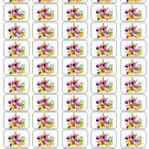 "50 Mickey and Disney Pals Envelope Seals / Labels / Stickers, 1"" by 1.5"""