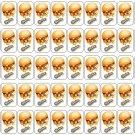 "50 Cheezey B Shopkins Envelope Seals / Labels / Stickers, 1"" by 1.5"""