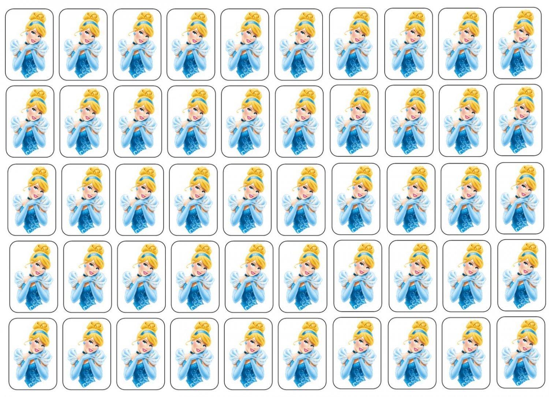 "50 Cinderella Envelope Seals / Labels / Stickers, 1"" by 1.5"""