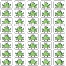 "50 Cartoon Frog Envelope Seals / Labels / Stickers, 1"" by 1.5"""
