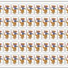 "50 Roo (Pooh's Friend) Envelope Seals / Labels / Stickers, 1"" by 1.5"""