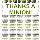 """50 Thanks a Minion! Envelope Seals / Labels / Stickers, 1"""" by 1.5"""""""
