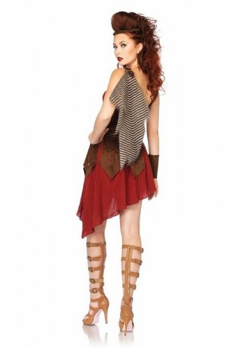 "NEW Women's Warrior Costume ""Deadly Huntress"" Medieval Knight Gladiator size-L/G"