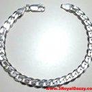 """Men Women Children Sterling Silver Italian Cuban Curb Link Bracelet - 5.5mm 8"""""""