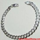 """Men Women Children Sterling Silver Italian Cuban Curb Link Bracelet - 6.5 mm 8"""""""