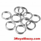 10 Split Jump Rings 5mm Split rings Stainless steel Jewelries Attachment Finding