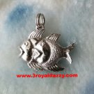 Always A Pair Couple Fish .925 Sterling Silver Pendant