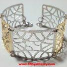 14k Rose & White Gold Layer on Silver Bracelet (3RoyalDazzy.com's Handmade # 4)