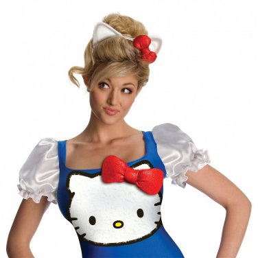 New Hello Kitty Blue Classic Costume Hello Kitty Halloween Fancy Dress Size - M