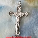 Jesus Christ Dimensional Crucifix Cross .925 Sterling Silver Pendant