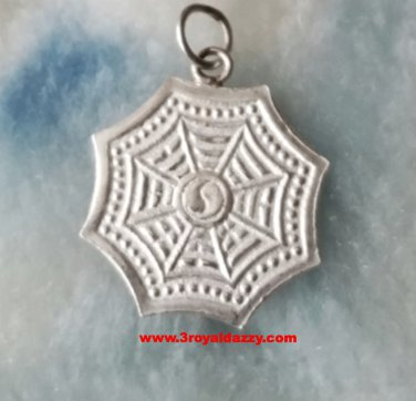 Brilliant Chinese Ying Yang Protection and Safety .925 Sterling Silver Pendant